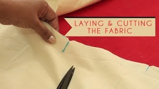 Lesson 4 - Laying and cutting the fabric in the right way to make a Kurti/kameez /dress