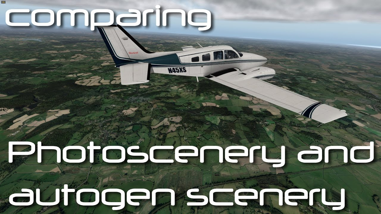 X plane 10 - comparing orth4xp photoscenery to Autogen scenery by Laminar  Flow Gaming