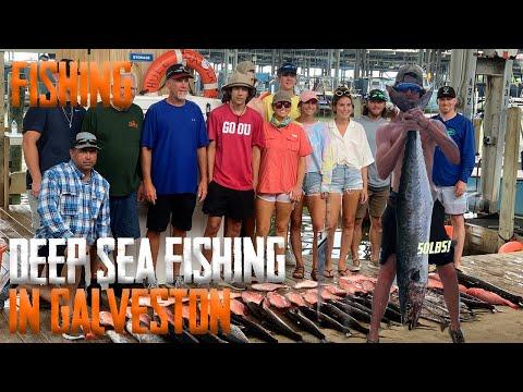 Deep Sea Fishing In Galveston...(50lbs King Fish!)