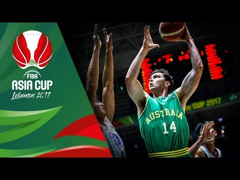 HIGHLIGHTS: Australia vs. Chinese Taipei (VIDEO) FIBA Asia Cup 2017 | August 12