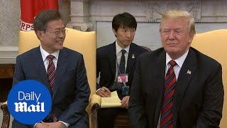 Trump meets with South Korean President Moon Jae-In at the White House