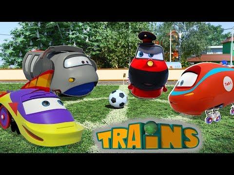 La Team - TRAINS - Dessin animé pour enfant sur les Trains