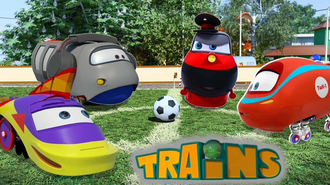 La team trains dessin anim pour enfant sur les train youtube - Train dessin anime chuggington ...