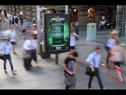 Heineken challenges pedestrians to give their all for F1 tickets | JCDecaux Australia