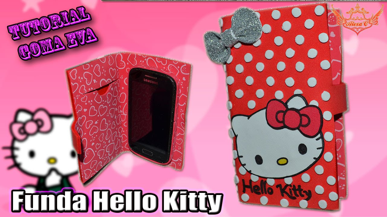 Tutorial funda hello kitty tipo flip de goma eva foamy - Fundas con goma eva ...