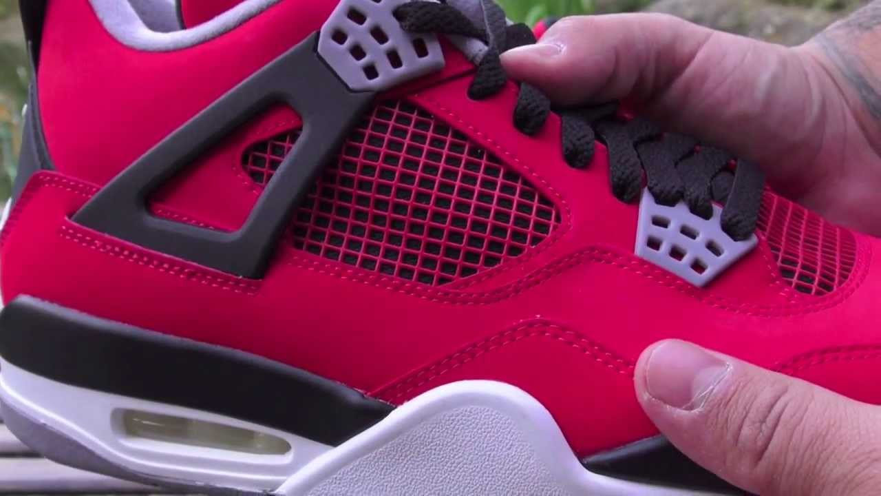 1fed4d9376cd8b Air Jordan 4 (IV) Toro Bravo - Red Nubuck 2013 - YouTube