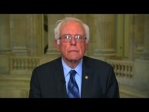 Sanders mocks Trump on health care