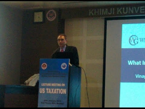Shareholder Vinay Navani speaks at the Institute of Chartered Accountants in India