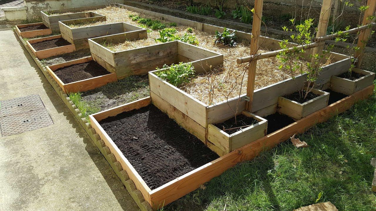 Construire Un Carré Potager ? agrandissement carrés potagers ! - permaculture -