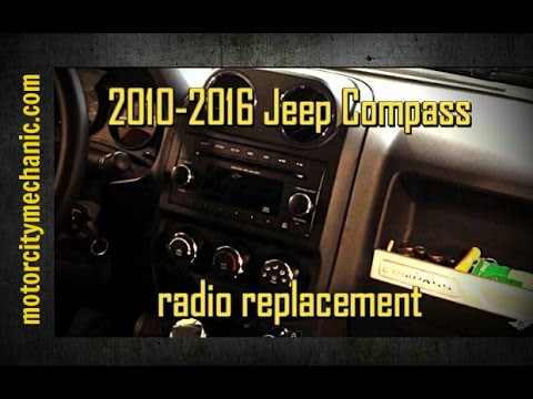 20102016 Jeep Compass radio removal YouTube – Jeep Compass Radio Wiring Harness