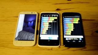видео HTC One против Nexus 4