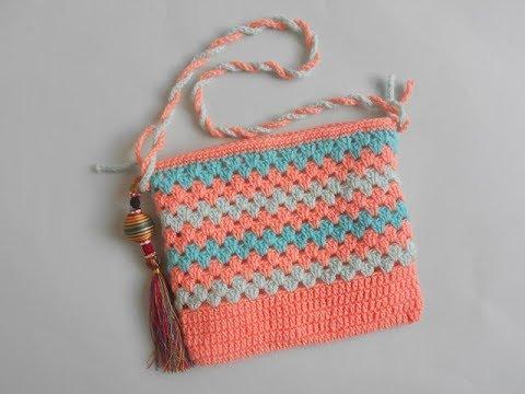Crochet Crosiahow To Crochet Small Purse For Beginner Youtube