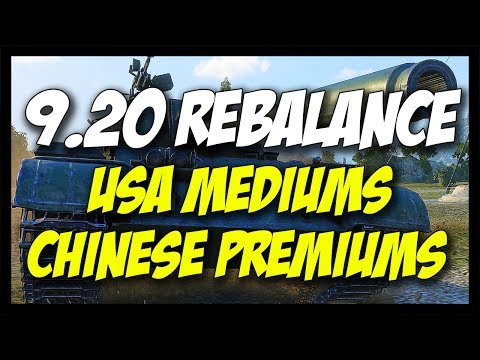 ► 9.20 - USA and Chinese Mediums - TYPE 59 BUFF, FINALLY! - World of Tanks Patch 9.20 Update