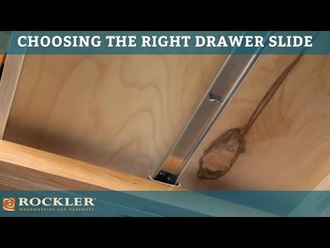 Drawer Slide Tutorial: Choosing the Right Drawer Slide