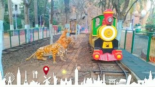 essel world yard train , 7 wonders of mumbai amusement park , maharastra tourism