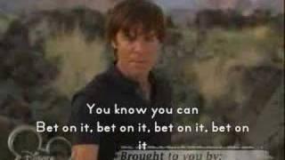 bet on it hsm2 lyrics