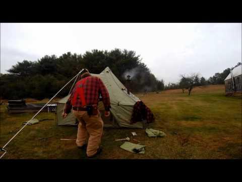 Cabelas Alaknak Winter Tent, Fresh Venison and Mike Delucia