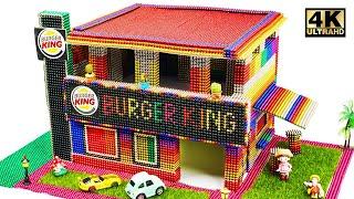 Super Creative - Build Burger King Shop Using Magnetic Balls (Satisfying) | Magnet World Series