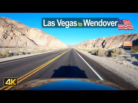 USA Road Trip - Las Vegas NV to Wendover UT in 4K