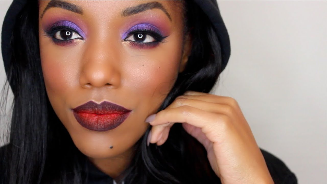Edgy Eye Makeup With Ombre Lips Ellarie Youtube