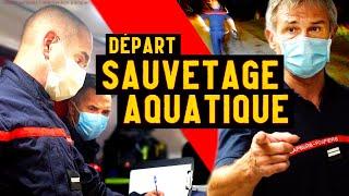 Départ Pompier : INTERVENTION SAUVETAGE Aquatique À Nevers (SDIS 58)