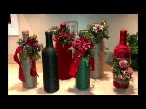 Weihnachtsdeko Roller.Dekorierten Flaschen Weihnachten Youtube