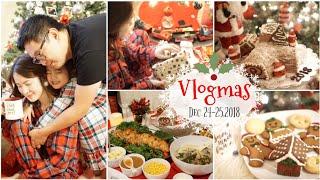 VLOGMAS 24-25 ,2018 ❅ Mở Quà Noel ♥ Làm Bánh Khúc Cây & Nấu Ăn Ngập Mặt ♥ Xmas party  | mattalehang