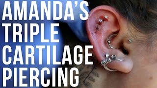 Amanda's Triple Cartilage Piercing   UrbanBodyJewelry.com