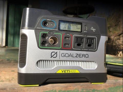 Goal Zero Yeti 400 Solar Generator w/Nomad 20 Solar Panel