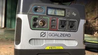 видео Источник питания Goal Zero Yeti 400