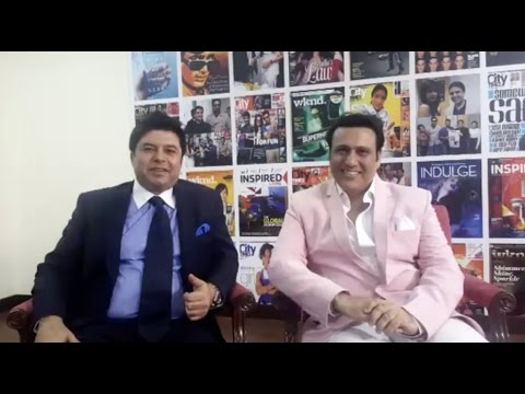 GOVINDA with Vijay Samyani at Khaleej Times Headquarter