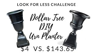Look For Less Challenge April 2019|Dollar Tree DIY Outdoor Spring Planter Decor