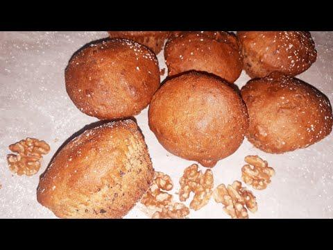 muffins-au-banane-et-noix-facile-et-rapide-❤❤-مافن-لذيذ-بالموز-و-الجوز!-اسهل-طريقة