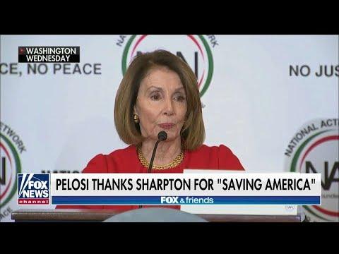 Nancy Pelosi Applauds Al Sharpton: 'Thank You for Saving America'