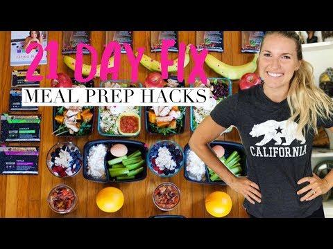 21 Day Fix Meal Prep Hacks