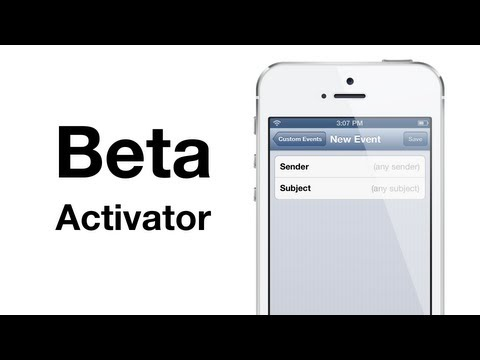 Cydia tweak: Activator beta 1.7.5 beta 7 & 8