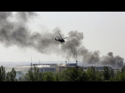 Nine feared dead as Ukrainian helicopter is 'shot down by rebel forces'