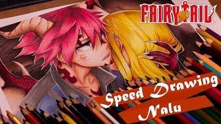 Speed Drawing - Natsu and Lucy  Fairy Tail (Nalu)