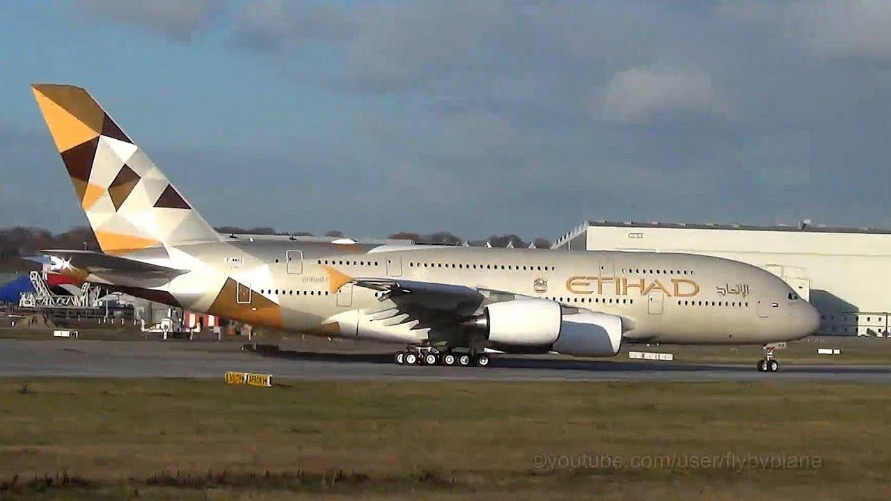 Rto First Etihad Airways A380 A6 Apa Finkenwerder