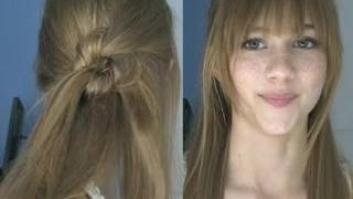 Super Cute Knotted Hairstyle for the Fall and Winter Thumbnail