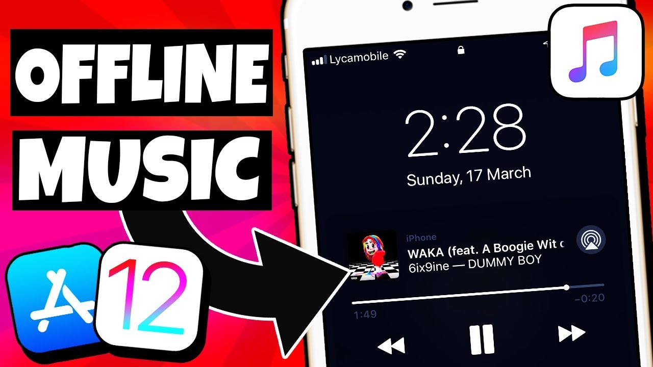 NEW How To Download Listen & Save Music/Song Offline FREE iOS 12/11 NO  Jailbreak/PC iPhone iPad iPod