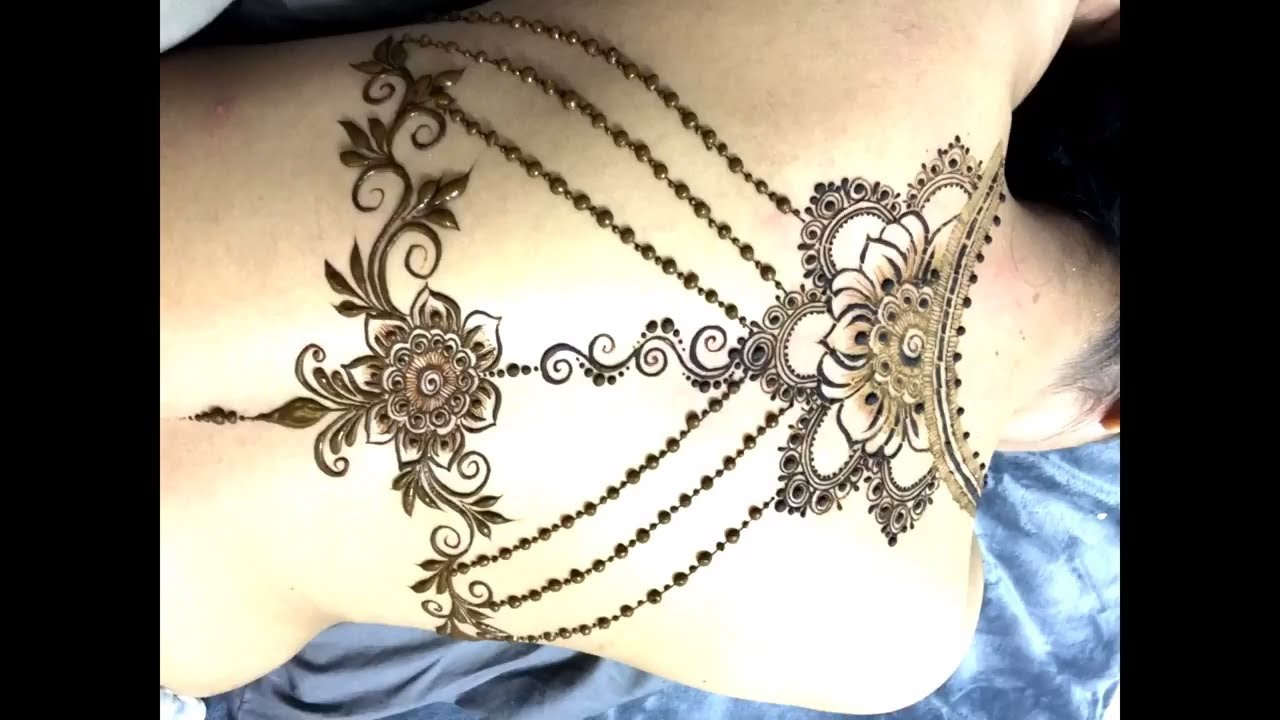 6df70491a8eb9 Easy Henna Tattoo Design for Beginners | Sexy Back Tattoo | Unique Design  2017