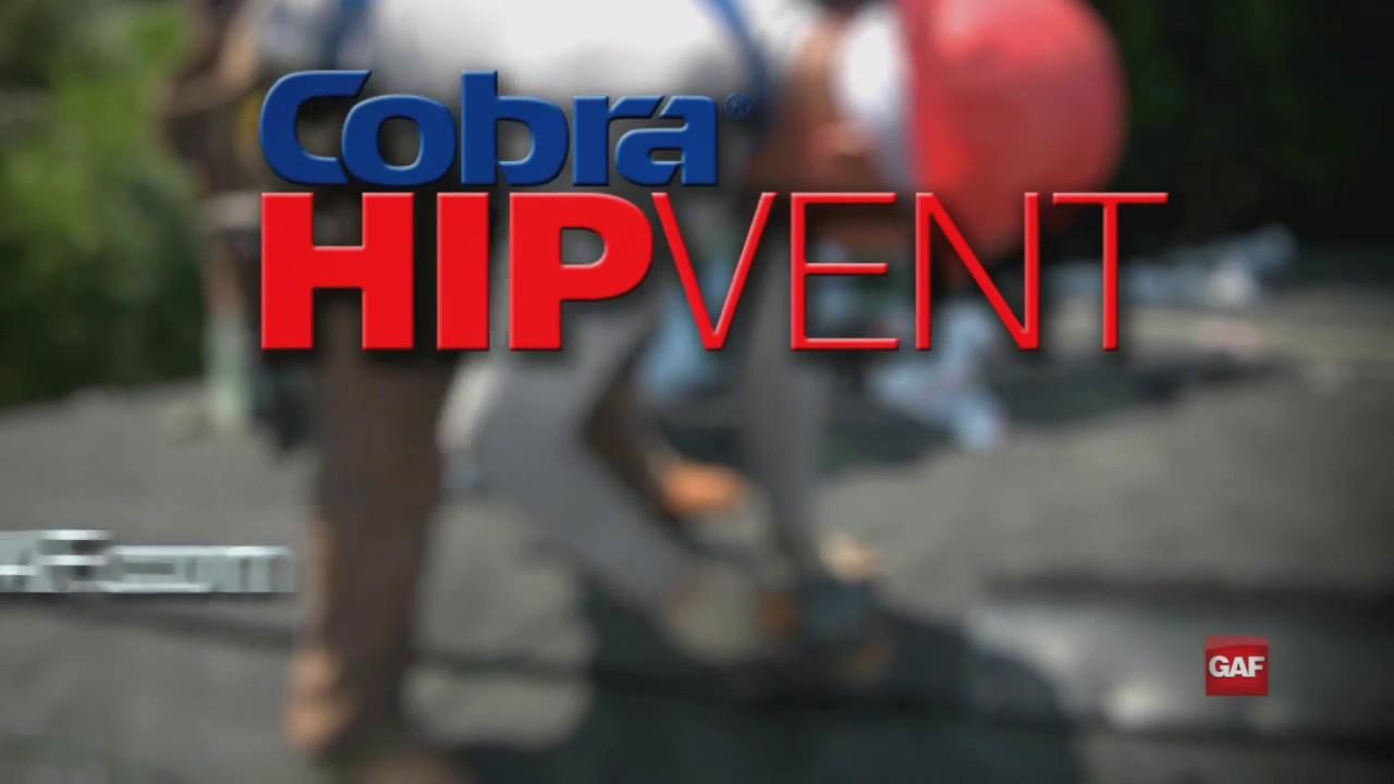 how to install a cobra hip vent gaf roofing