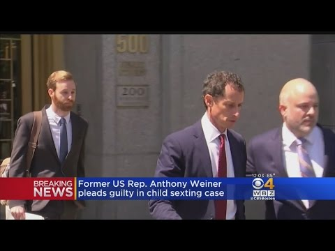 Ex-Congressman Anthony Weiner Cries In Court, Pleads Guilty In Sexting Case