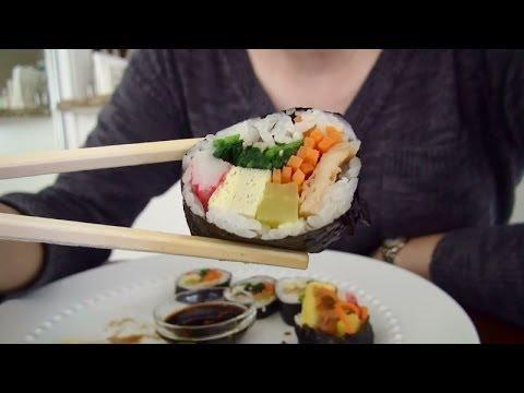 ASMR: Kimbap 김밥 + Korean Food | Shopping Haul | Eating Sounds