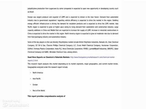 Low Density Polyethylene (LDPE) Market - Latest Research Report, 2014 - 2020