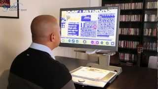 Téleagrandisseur et lecteur de texte audio Optelec ClearView+ Speech
