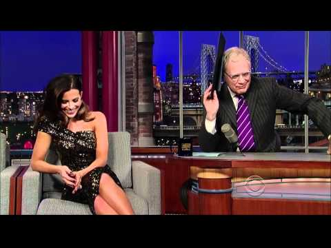 Kate Beckinsale Talks About Underwold Awakening on David Letterman Show, January 10, 2012