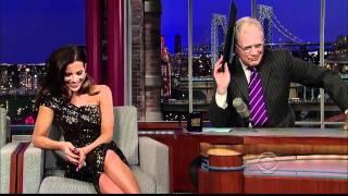Kate Beckinsale Talks About Underwold Awakening on David Letterman Show, January 10, 2012