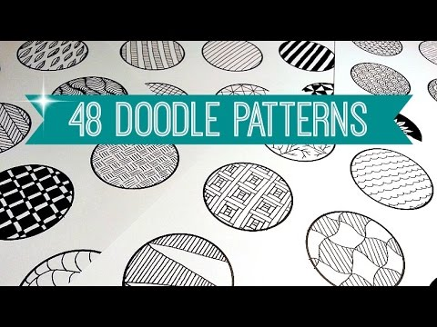 48 EASY DOODLE PATTERNS | ZENTANGLE + MANDALA | SOLLOMIO